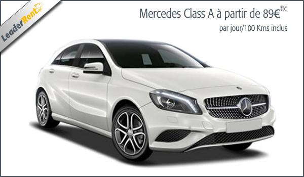 Mercedes Class A à partir de 89€ ttc