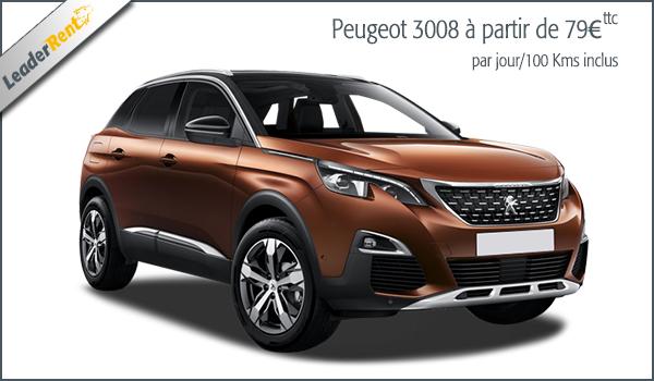 Peugeot 3008 à partir de 79€ ttc
