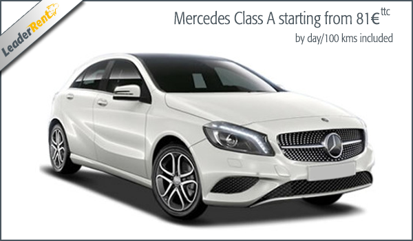 Mercedes Class A starting from 81€ ttc