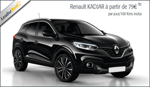 Nouvelle Renault Kadjar à partir de 79€ ttc